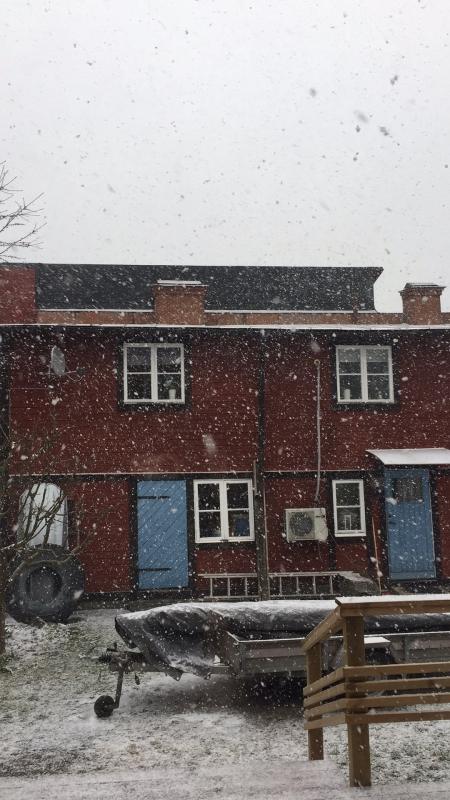 Snö i april