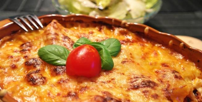 Vegetarisk lasagne med halloumi