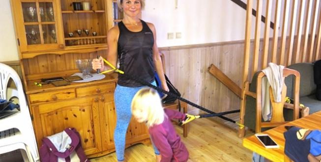Anna Lissjanis - träning med gummiband