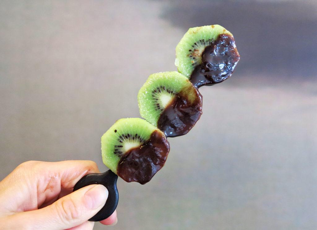Isglass av frukt