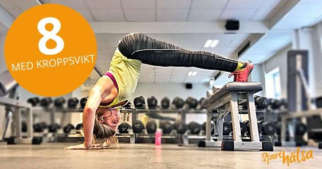 Veckans träningsprogram - 8 övningar med egen kroppsvikt