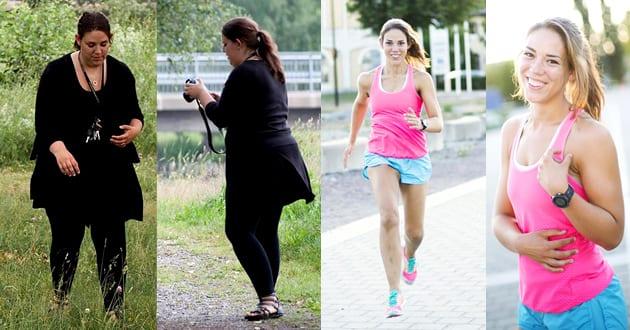 Från 130 kilo med reumatism till maratonlöpare