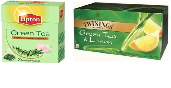 Grönt te innehåller tillsatt socker
