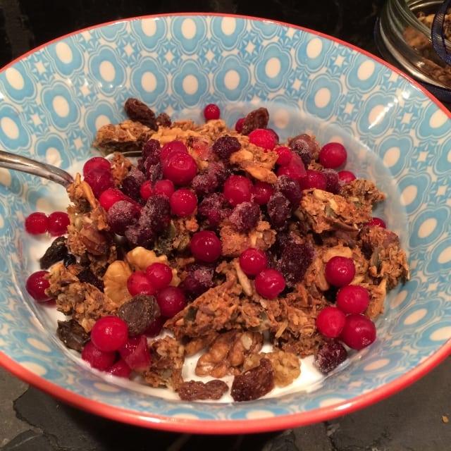 Recept på nyttig granola müsli