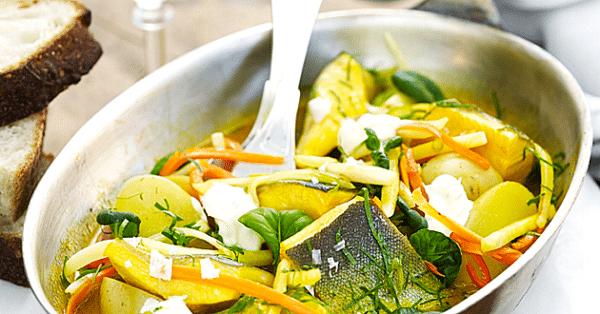 Recept: Inkokt fjällröding på medelhavsvis