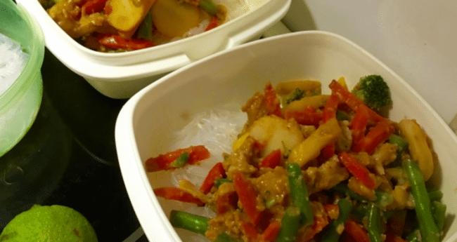 Thaigryta med fisk & glasnudlar!