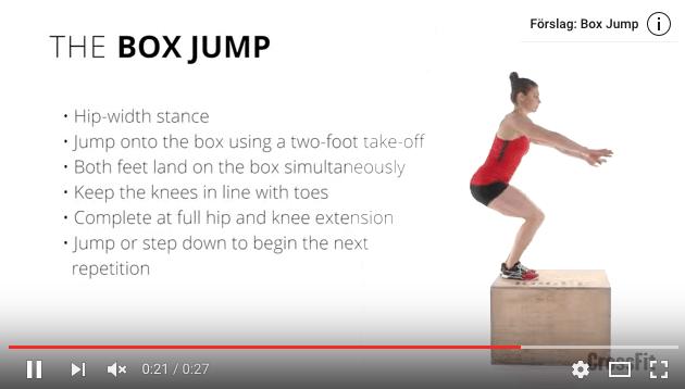 Box jumps teknik – så här gör du