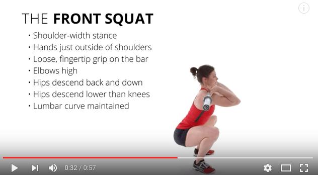 Teknik i front squat