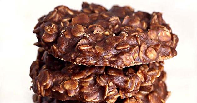 Havrekakor med choklad på 5 minuter