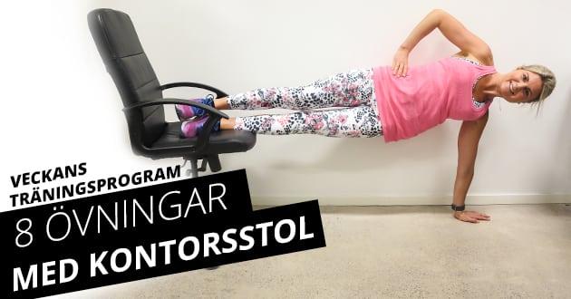 8 övningar med kontorsstol – gymmet du sitter på