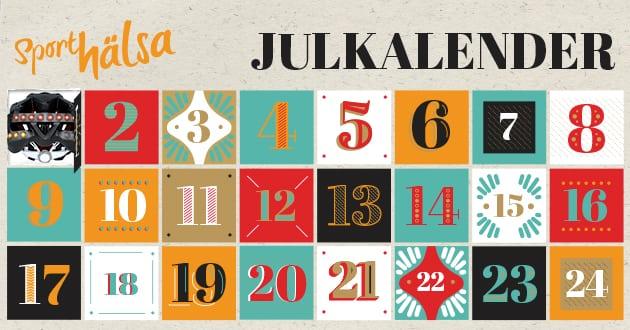 Julkalender - 24 dagliga hälsodeals