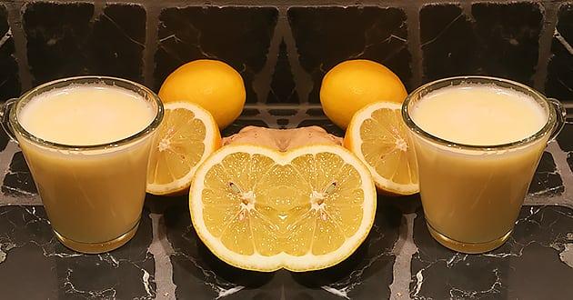Recept: Citron- och ingefärsshot mot förkylning