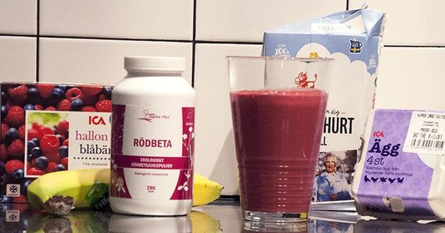 Recept: Proteinrik rödbetssmoothie