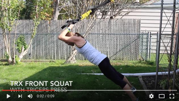 Squat challenge – dag 14. Squat tricep press