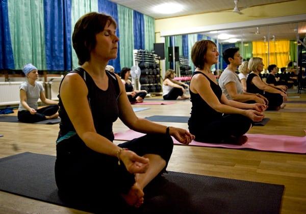 Yoga närsomhelst på hemmaplan