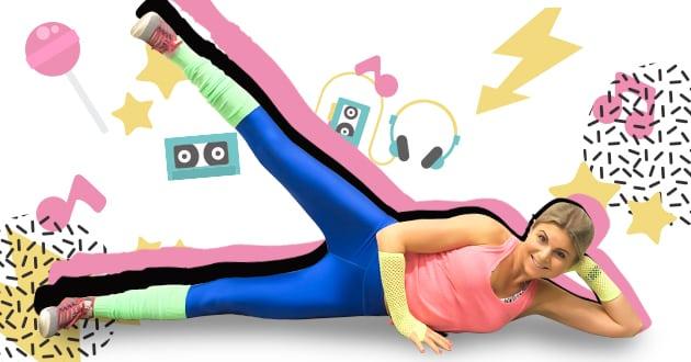 80-talsgympa och aerobics – 6 övningar