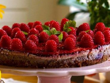hallon cheesecake