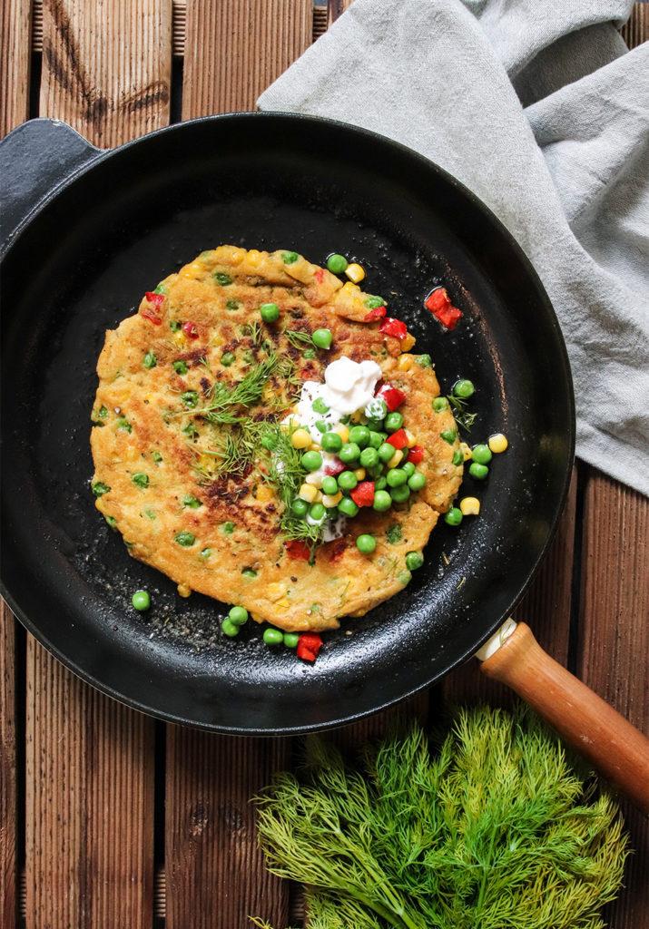 Vegansk omelett