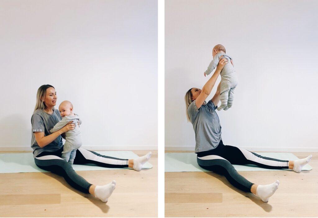 träna med din bebis