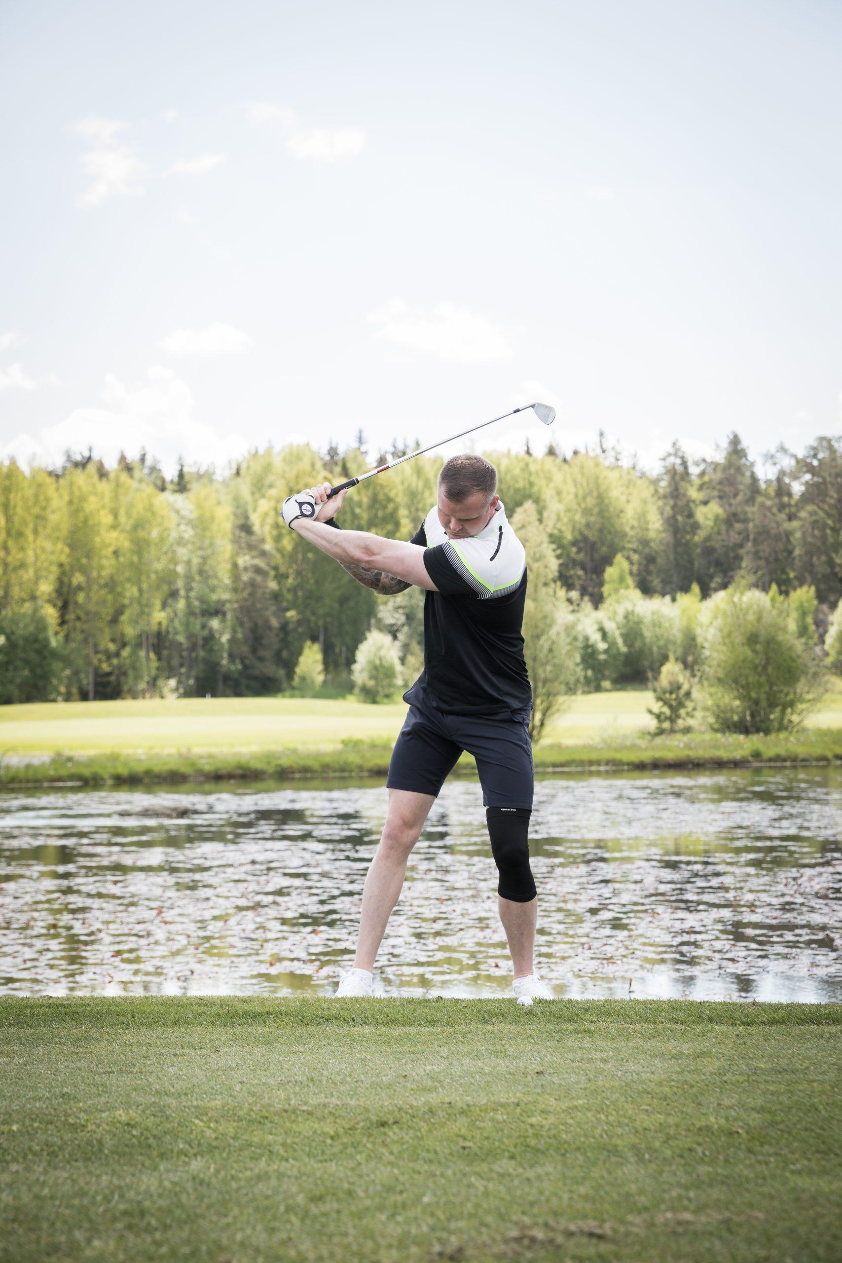 Golf knäskydd