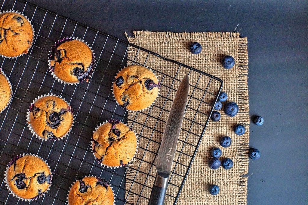 blåbärsmuffins med mandelmjöl