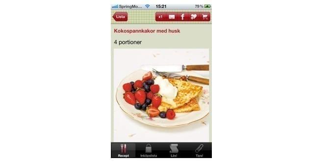 Ny app med LCHF-recept