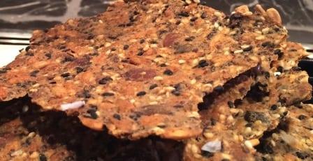 Recept: Glutenfritt knäckebröd