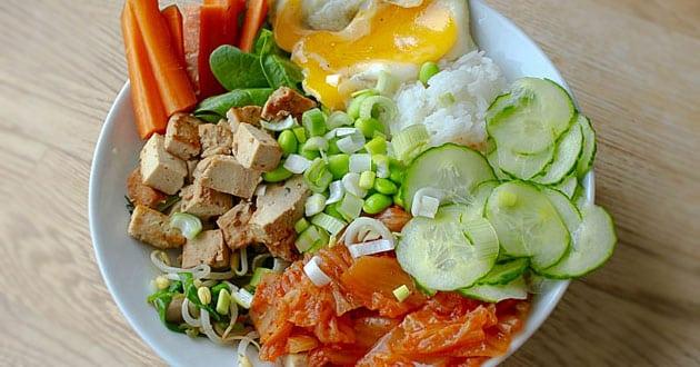 Bibimbap med tofu – recept på Lisas vis