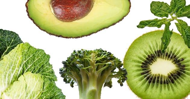 Topp 7: Gröna nyttiga livsmedel