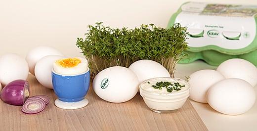 KRAV-märkta ägg är nyttigare