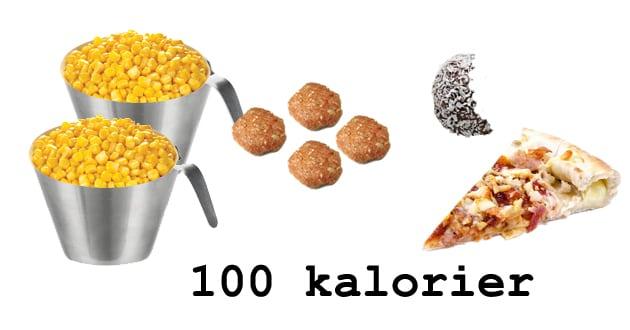 100 kalorier måltid