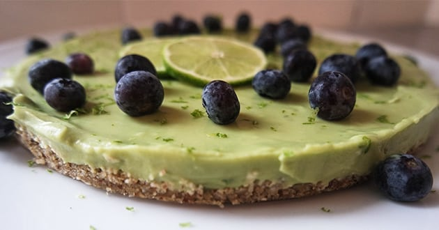 Raw Key Lime Pie - sockerfritt recept