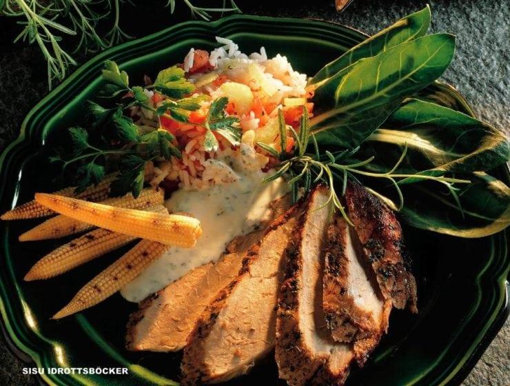 Maträtter med pesto a´la Charlotte Kalla