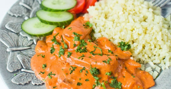 Vegetarisk Stroganoff med halloumi - recept