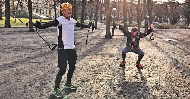 Styrkepass utomhus för löpare