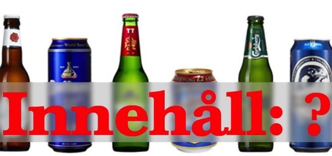 Vad innehåller öl egentligen?
