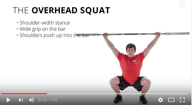 Teknik i overhead squat