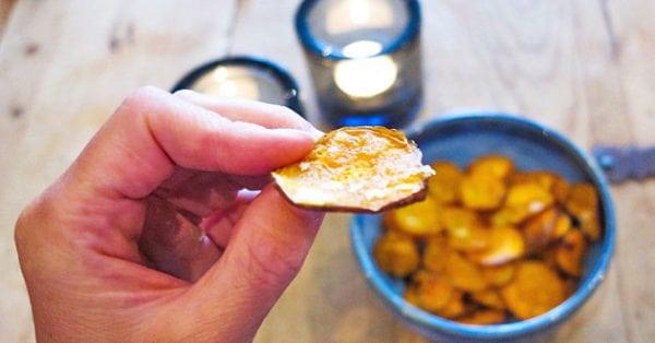 Sötpotatischips - spröda snacks till vardag som fest