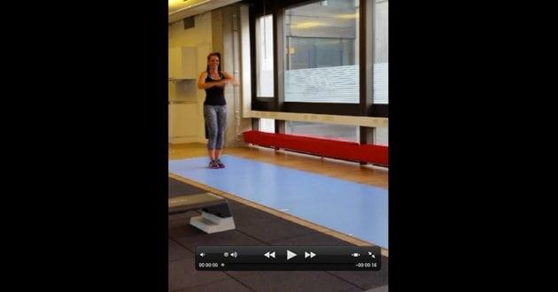 Träningsövning: Utfallssteg med rotation