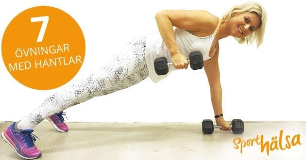 7 övningar med hantlar för hela kroppen