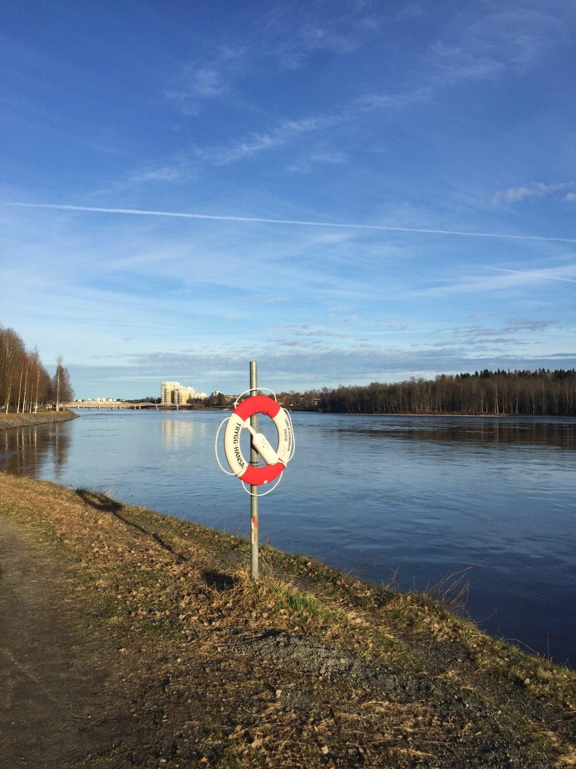 Strandpromenaden i Umeå