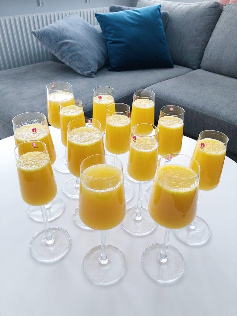 Babyshower - alkoholfri mimosa