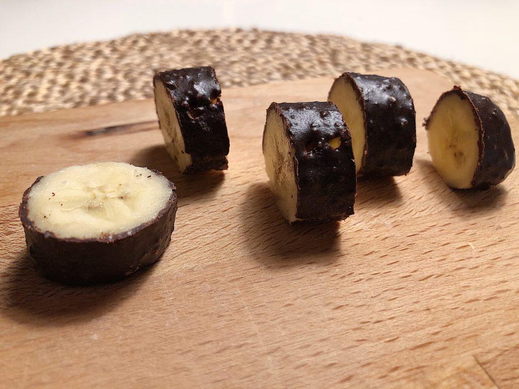 Fryst banan med choklad