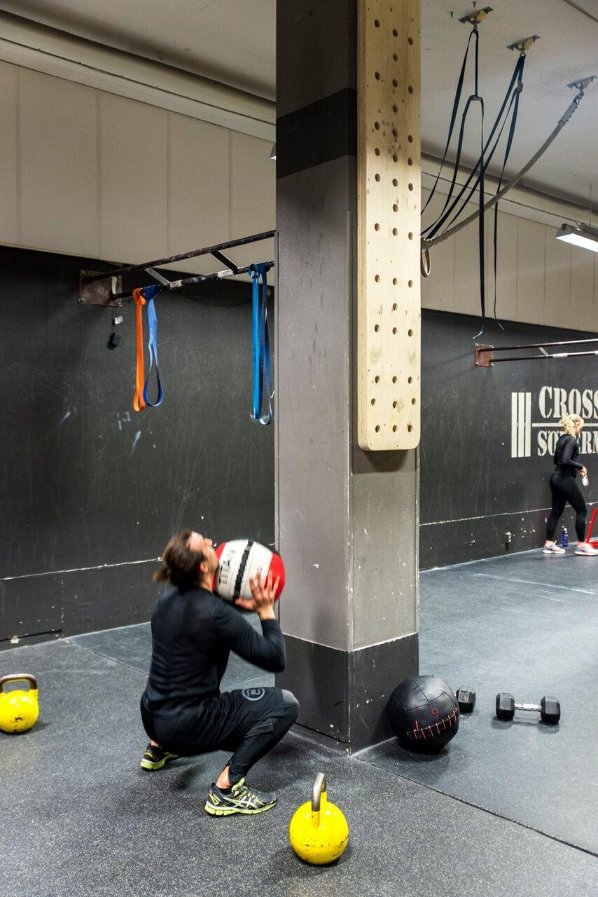 wall ball övning
