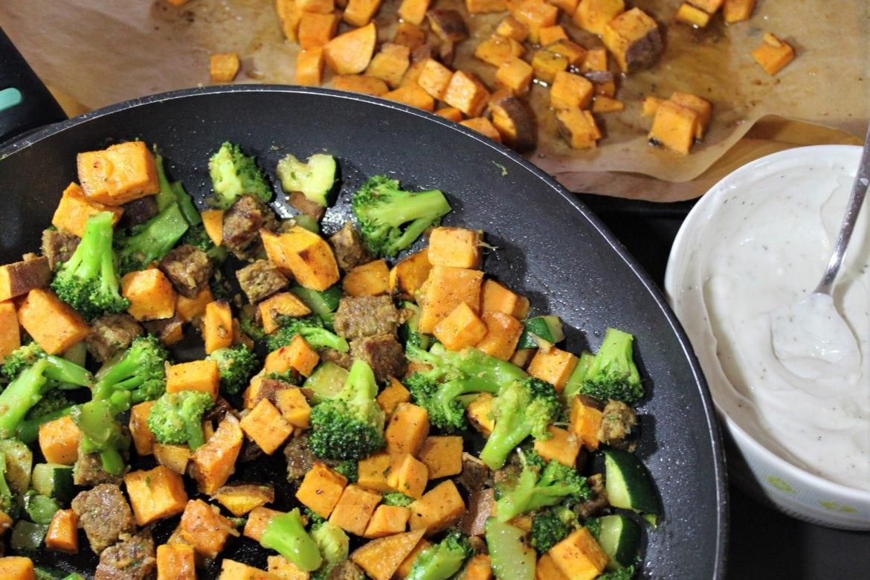 vegetarisk grönsakspytt