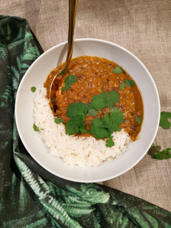 vegansk indisk gryta