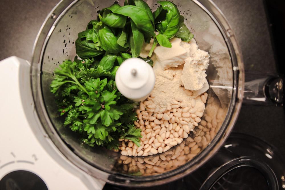 vegansk pesto recept