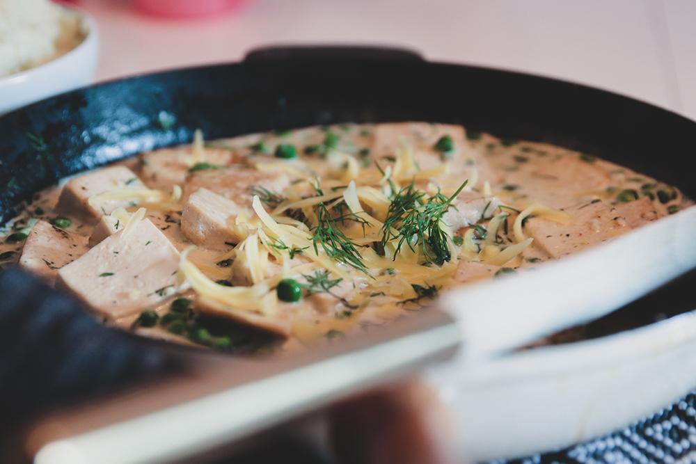 tofu i dillsås