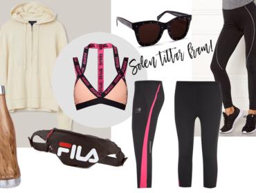 Vårens snygga och praktiska kläder och accessoarer. Vårmode för uteträning helt enkelt.