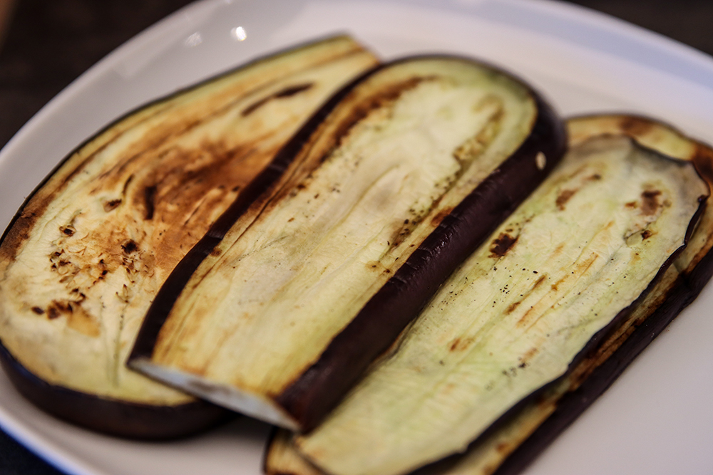 auberginer till vegan moussaka